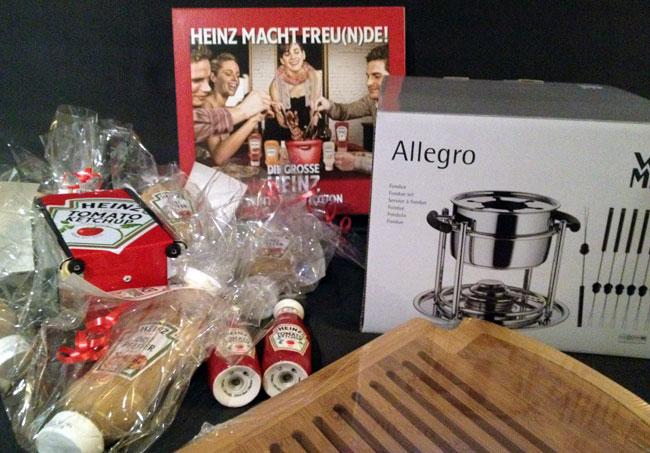 HEINZ macht Freunde - Blogger Paket mit Schneidebrett, Serviettenspender, Drei Peffer Sauce und noch mehr
