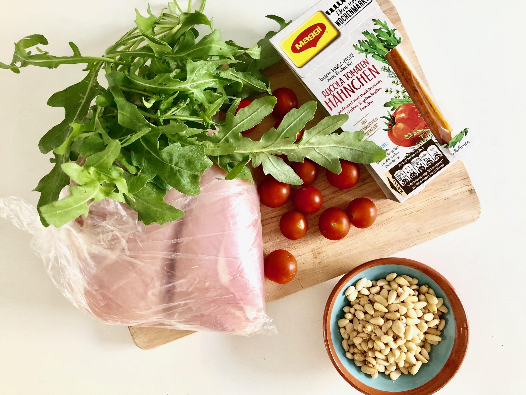 Für die schnelle Küche: Rucola Tomaten Hähnchen - Das grillt!